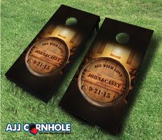 Age With Love Cornhole set! Your guests will have so much fun at your wedding reception! Order yours TODAY at www.ajjcornhole.com