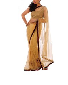 Beige Sari – StylishMob