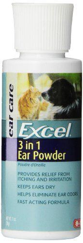 Dog Ear Care - Excel 3 in 1 Ear Powder 1Ounce -- Check this awesome product by going to the link at the image. (This is an Amazon affiliate link)