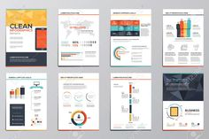 infographic flat brochure - Google Search