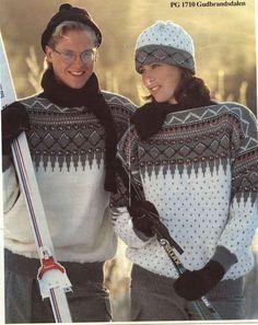 Ski Sweater, Sweater Weather, Norwegian Knitting, Old Magazines, Vintage Knitting, Mittens, Christmas Sweaters, Knit Crochet, Wool