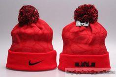 Nike Beanies Knit Hats Winter Cap Red 02