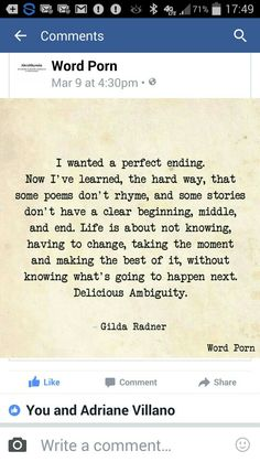Gilda Radner, the unexpected