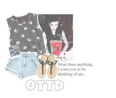 """""""xx ootd, going for a walk xx"""" by hidden-in-the-silence ❤ liked on Polyvore featuring H&M, Polaroid and Love Quotes Scarves"""