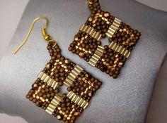 Tutorial Bronze Diamond Earrings Tutorial by RenovatiobyLuciela
