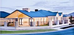 Family Bunker Plans 473652085794102381 - Bunker Bay, Single Storey Elevation, WA Source by dafffko Colorbond Roof, Interior Design Videos, Country House Design, Display Homes, Exterior House Colors, Resort Style, Large Homes, Bunker, Entry Doors