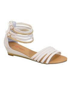 Another great find on #zulily! White Rhinestone Emma Sandal by I Heart Footwear #zulilyfinds