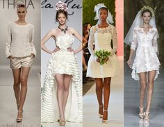 Wedding dress trends of 2015: Short and chic