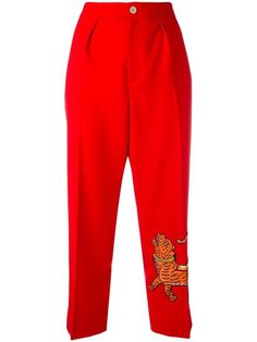 GUCCI Embroidered Tiger Trousers. #gucci #cloth #trousers