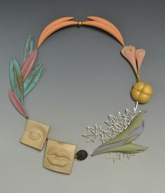 """Rinpa Maple"" necklace 