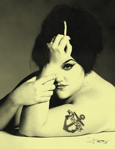 Beth Ditto, lead singer of the rock group Gossip