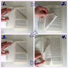 book folding pages to make a fairy house                                                                                                                                                                                 More