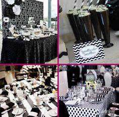 preto e branco Black And White Party Decorations, Black White Parties, Black Party, Festa Pin Up, Mom Birthday, Birthday Parties, Pin Up Party, Beatles Party, Panda Party