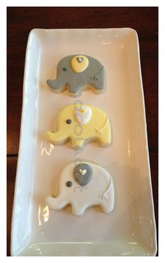 Baby elephants from Chevron Baby Shower collection www.chocoladot.com