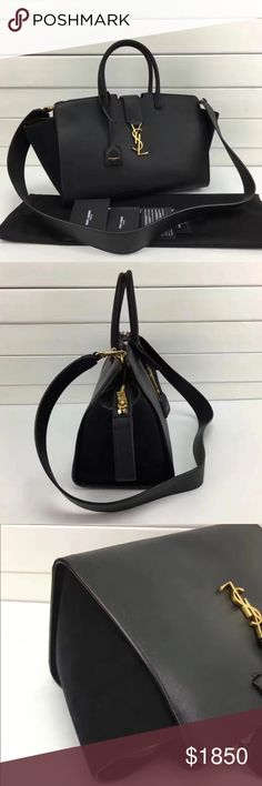 YSL black leather Downtown Cabas bag new 100% real, new never used, retail $2490, asking $1850, NO TRADE!!!! Bags