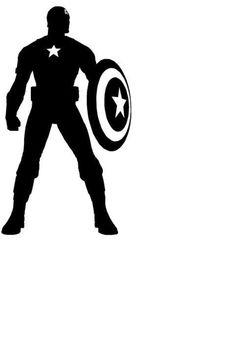 découpe super héro captain america pour scrapbooking carterie....