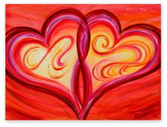 Heart Paintings On Canvas | Canvas Giclee Heart Art ~ Limited Edition