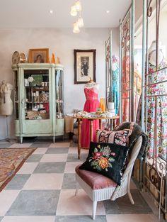 - Sneak Peek Inside Brunswick Heads Store Brunswick Heads, Quilt Cover, Visual Merchandising, Vintage Shops, Home And Garden, Cushions, Design Inspiration, Work Spaces, Room