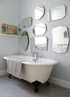 Vintage mirrors.