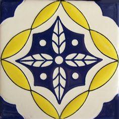 Mexican Talavera tile: oc 244