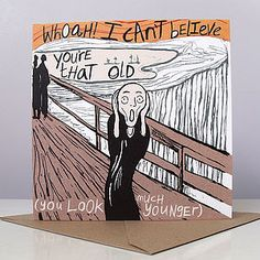 Scream Birthday Card - view all sale items