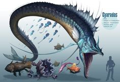 -Gyarados- by arvalis Realistic Pokemon by RJ Palmer (2nd part)http://thedancingrest.com/2014/08/30/realistic-pokemon-by-rj-palmer-2nd-part/