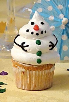 Recept na Muffiny sněhuláci