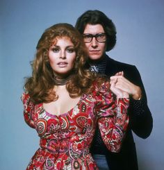 Raquel Welch and Yves Saint Laurent,1975