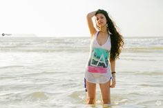 girl, beach, floripa