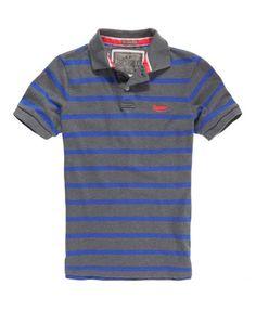 TWIST YARN QUARRY Superdry Twist Yarn Polo Shirt