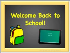 Back to School Power Point: Editable (Black Board) from Chalkspot.com on TeachersNotebook.com -  (22 pages)
