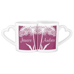 Queen Anne's Lace Design Lovers Mugs Lovers Mug Set