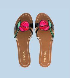 Sandalias con rosa Prada