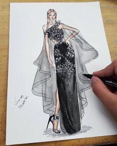 Dress Design Drawing, Dress Design Sketches, Fashion Design Sketchbook, Fashion Design Portfolio, Fashion Design Drawings, Fashion Drawing Dresses, Fashion Illustration Dresses, Fashion Model Sketch, Fashion Sketches