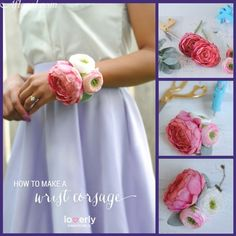 Easy and beautiful DIY Wrist Corsage.  Great for Mother of the Bride #DIY #corsage #afloral