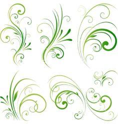 Illustration about Nature design element, vector illustration. Illustration of ornament, green, paint - 14535881 Boarder Designs, Page Borders Design, Filigree Design, Swirl Design, Filigree Tattoo, Irish Symbols, Stencil Patterns, Wedding Art, Hand Embroidery Designs