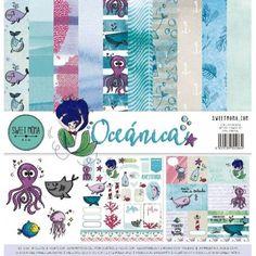 Papeles scrapbooking oceánica de Sweet Möma Scrap, Quilts, Blanket, Craft Stores, Mini Albums, Paper Envelopes, Blue Prints, Quilt Sets, Blankets