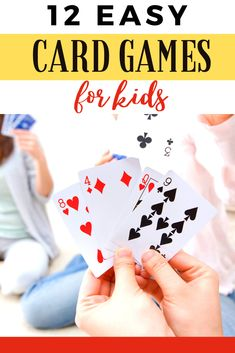 There are so many easy card games to learn to kick off a memorable family game night. I rounded up 12 of the classics in an attempt to make your life easier. Group Card Games, Family Card Games, Fun Card Games, Card Games For Kids, Playing Card Games, Craft Activities For Kids, Fun Games, Kids Playing, Weekend Activities