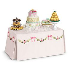 I love American Girl's historically accurate toys. This 1850's New Orleans banquet table is peachy.