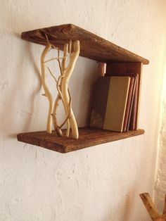 this wood (haha) be really cool to have in my room for books & such dieses holz (haha) sei echt geil Wood Furniture, Furniture Design, Inspiration Wand, Earthy Decor, Branch Decor, Into The Woods, Diy Holz, Kids Wood, Home And Deco