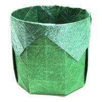 square round origami box