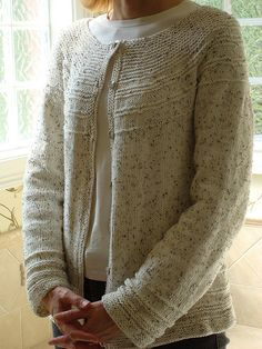 Ravelry: Transitions Yoke Cardigan pattern by Becky Harbour