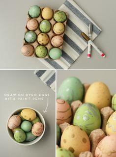 DIY roundup: Metallic Easter Egg Designs