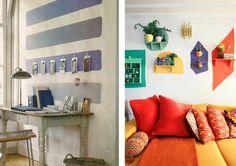 Una selección diferente de cómo podemos usar la pintura para pintar nuestras paredes.