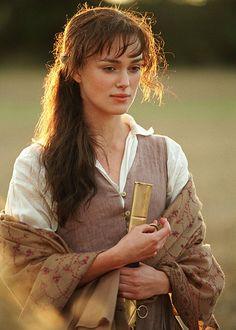 Keira Knightley in 'Pride and Prejudice'.
