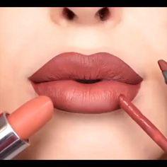 Lip Tutorial, Lip Makeup Tutorial, Red Lipstick Tutorial, Ombre Lips Tutorial, Makeup Tutorials, Skin Makeup, Makeup Lipstick, Beauty Makeup, Lipsticks
