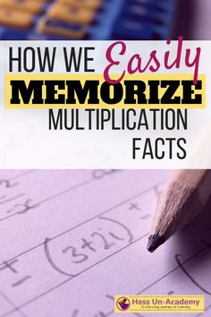 How we easily memorize multiplication facts. I used this math hack when I was a kid, and now my homeschool math students use this trick to learn to multiply Learning Multiplication Facts, Multiplication For Kids, Math Facts, Teaching Math, Kindergarten Math, Preschool, Homeschool Math, Curriculum, Homeschooling