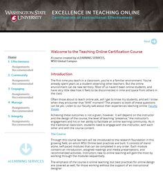 Certification of Instructional Effectiveness in Online Teaching from Washington State University (September Washington State University, University Of Mississippi, Career Planning, Instructional Design, A Classroom, Certificate, Ph, Innovation, September