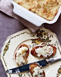 Brandade de Morue au Gratin (Whipped Salt Cod Gratin)  The Provençal dish known as brandade de morue is a great example of how to elevate modest ingredients like salt cod and potatoes—in this case, by whipping them with milk, olive oil and garlic until luxuriously silky.