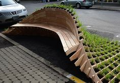 referencia banco integrado com jardim                              …